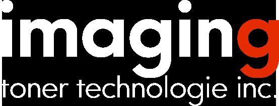 imaging toner logo white